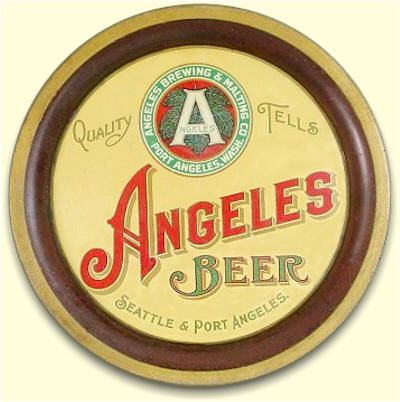 Angeles Beer tray - Quality Tells, c.1905 - image