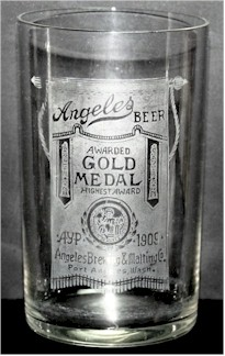 Angeles Beer glass, c.1909