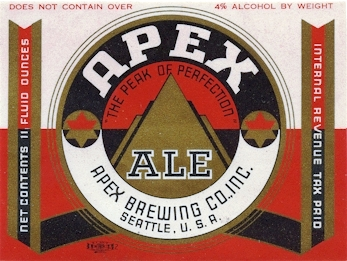 Apex Beer label, c.1936 - image