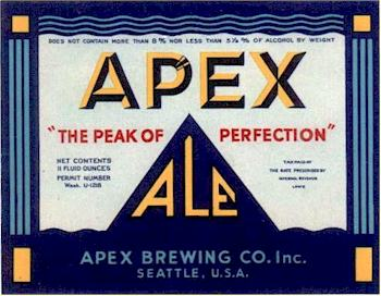Apex Ale label ca.1935