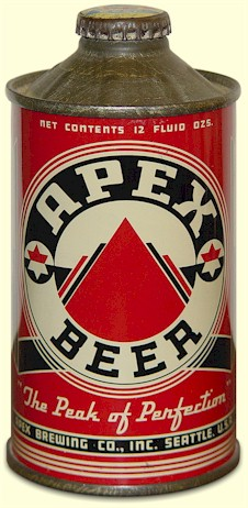 Apex Beer, cone-top can