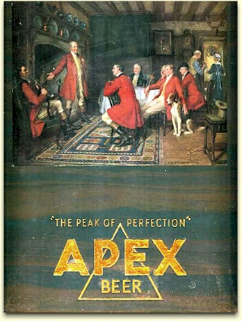 Apex cardbord sign c.1934 - image