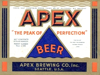 Apex Ale label c.1934 - image