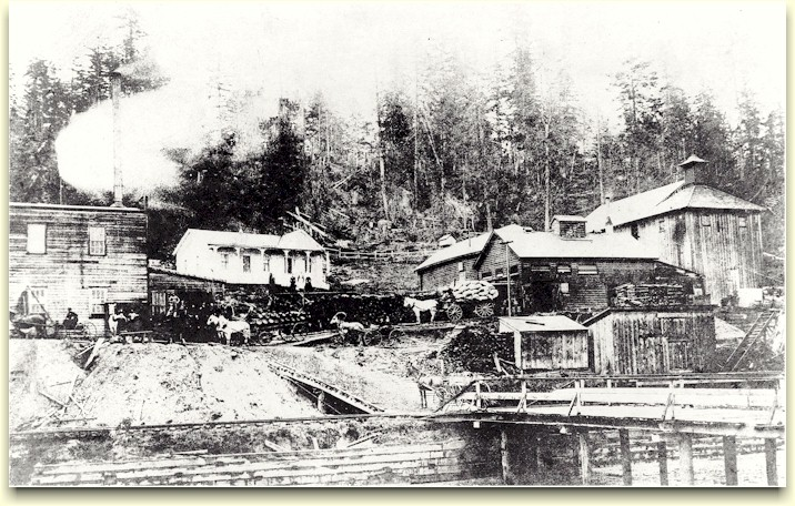 1880s photo of the Bay View Brewery