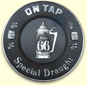 Brew 66 Special Draught plaque