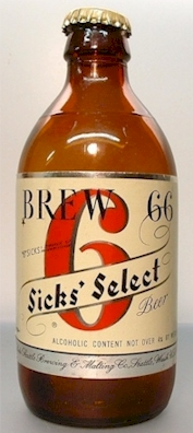Brew 66 test market bottle, c.1950 - image