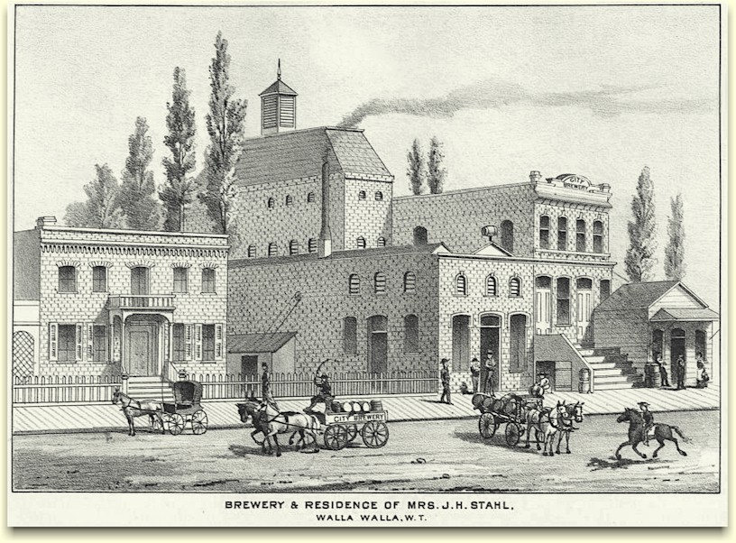 Brewery & residence of Mrs. J. H. Stahl