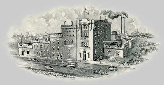 Old brewery etching