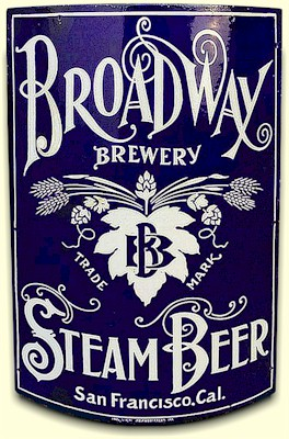 Broadway Brewery Steam Beer sign, San Francisco