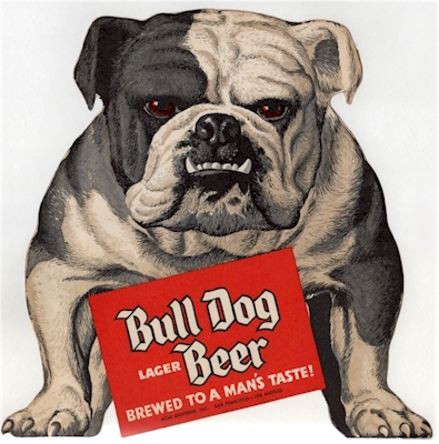 Bull Dog Lager Beer ad - image