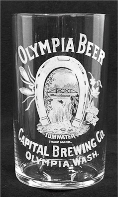 Capital Brewing Co. etched glass