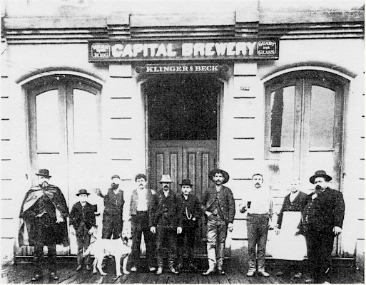 Capital Brewery personnel c.1895 - image