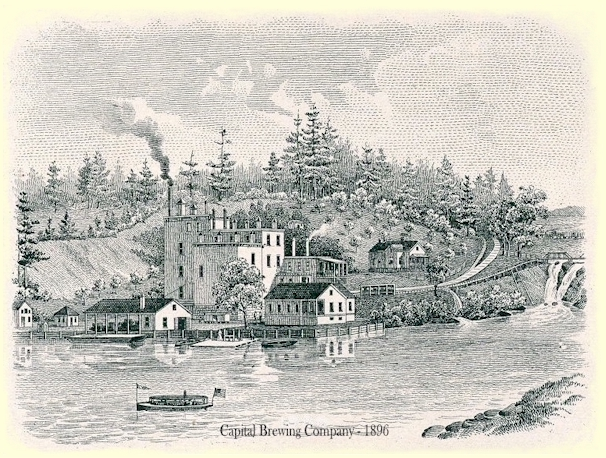 Etching of the Capital Brg. Co. c.1896 - image