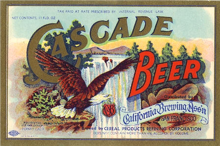 Cascade Beer label from Acme, c. 1933 - image