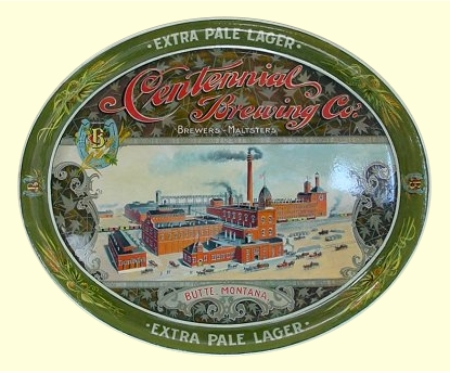 Centennial beer tray. c.1900 - image