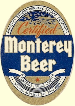 Certified Monterey Beer, IRTP label, c.1939 - image