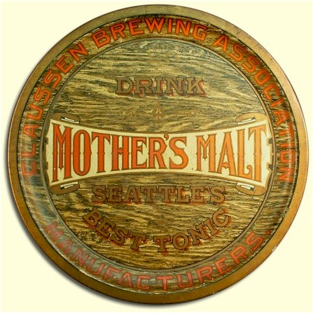 Claussen Brg. Assn. Mother's Malt tray - image
