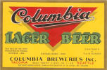 Columbia Lager beer label -  image