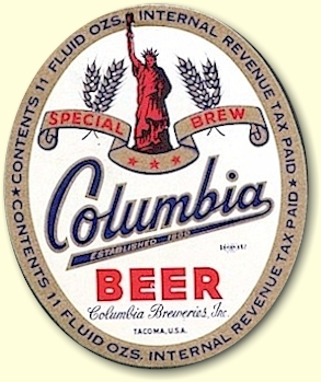 Columbia Beer label 12 oz. -  image