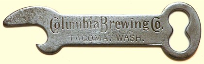Columbia Brewing Co. bottle cap lifter, c.1910