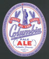 Columbia Pale Ale, 12oz silver oval label - image