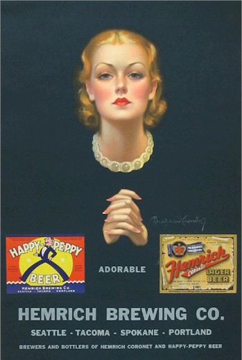 Hemrich brewing Co. 1936 calendar - image