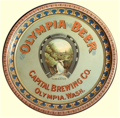 Capital Brewing Co. beer tray, ca.1900