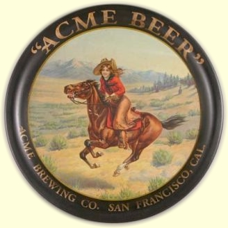 Acme Beer tray c.1916 - image