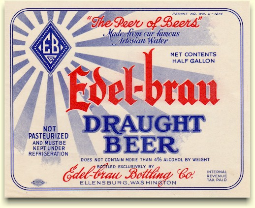 Edel-Brau Draught Beer label