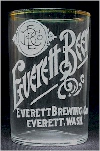 Everett Beer etched glass ca.1906