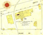 1914 Sanborn map of the Everett Brewing Co.