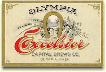Excelsior Beer label, Capital Brg. Co.