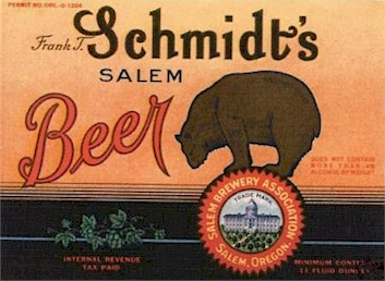 Schmidt' Beer label from Salem Brewery Assn. - image
