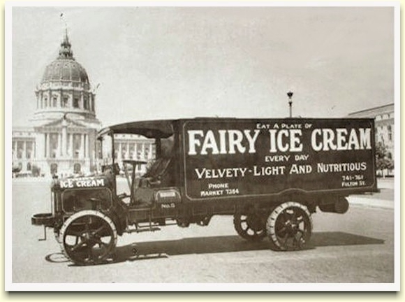 Fairy Ice Cream truck, c.1922