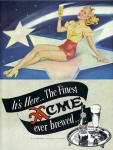 1947 ad by Varga Finest Acme ever brewed