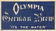 Olympia German Brew, beer label -  image