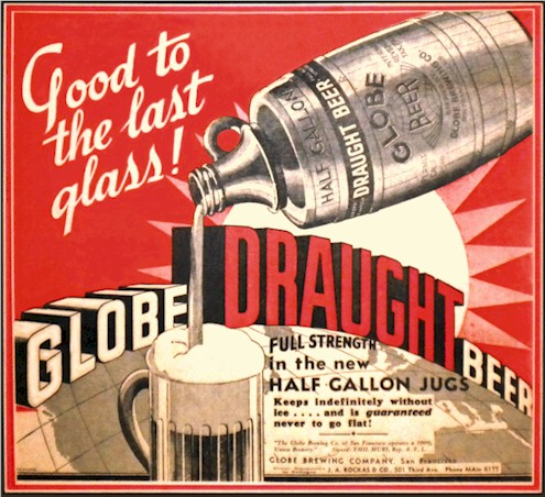Globe Draught Beer ad - image