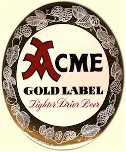 Acme Gold Label Beer foil sticker - image