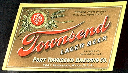 Townsend Lager Beer gold label - image