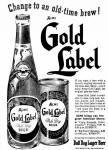 New look for Acme's Gold Label Beer Oct. 1952