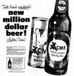 Acme Gold Label bottle & can intro Oct. 1950