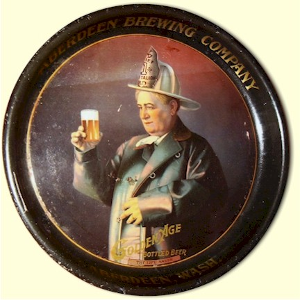 Aberdeen Brg. Co's. Golden Age Beer tray, c.1912 - image