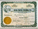 Grays Harbor Brewing Co. stock certificate - image
