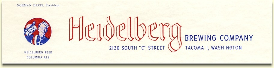 Heidelberg Brewing Co. letterhead, ca.1956