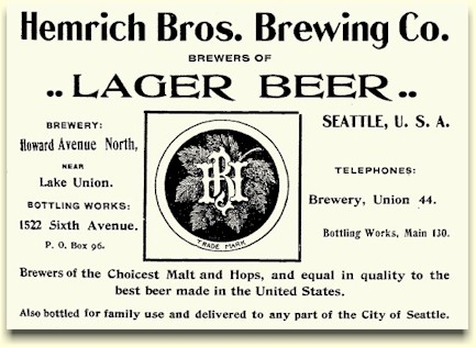 Hemrich Bros. Brg. Co. ad 1901 Seattle Directory - image