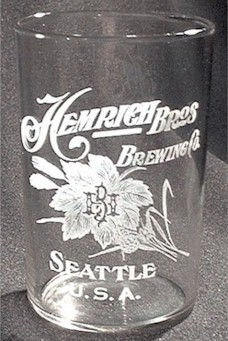 Hemrich Bros. Brewing Co. etched beer glass - image