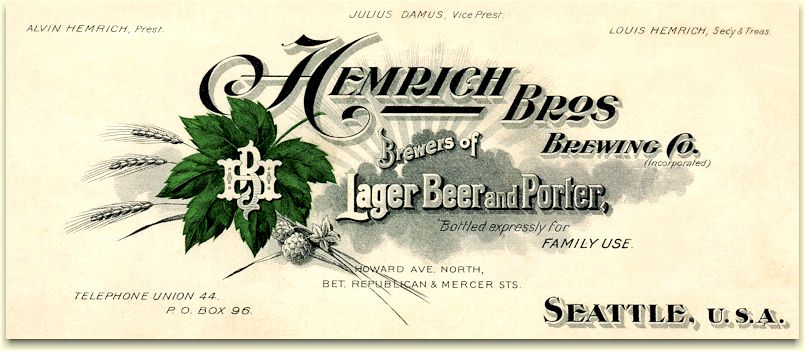 Hemrich Brothers Brewing Co. letterhead