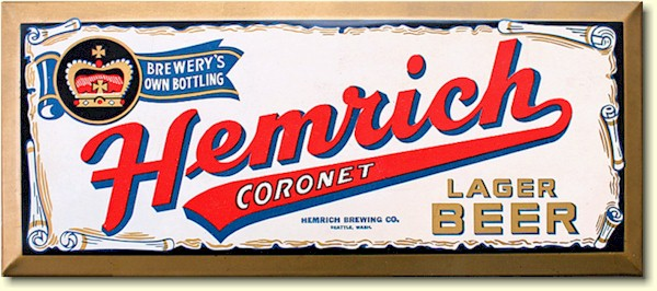 Hemrich Coronet Lager Beer sign