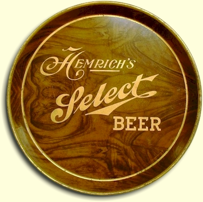 Hemrich's Select beer tray - image