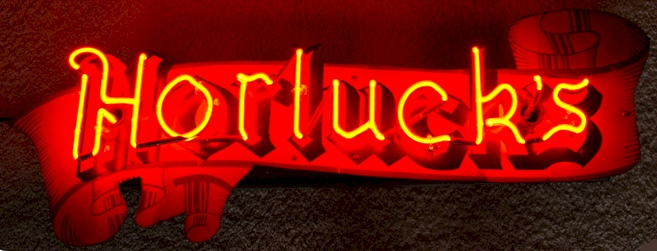 Horluck's Beer neon sign - image